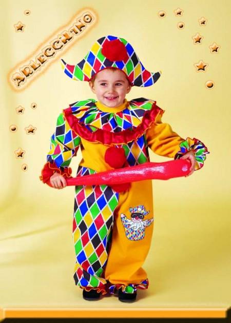 Costumi di Carnevale per bambini fai da te: Arlecchino
