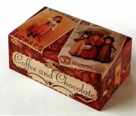 Decoupage: crea una scatola per i cioccolatini