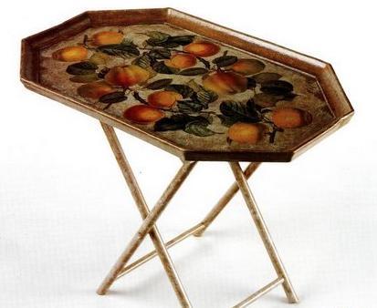 Decoupage vassoio tavolino