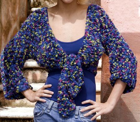 Schemi maglia italiano: un bolero multicolor