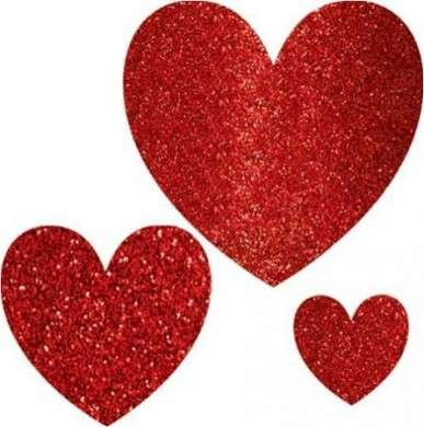 Biglietti fai da te per San Valentino: il cuore glitterato