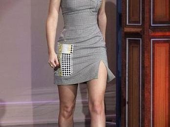 Leighton Meester con un abito Versace
