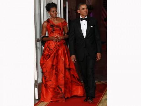 Michelle Obama sceglie la moda di Alexander McQueen