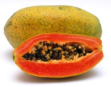 Ricette light: antipasto prosciutto e papaia