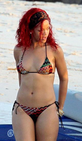 Rihanna con un bikini Missoni