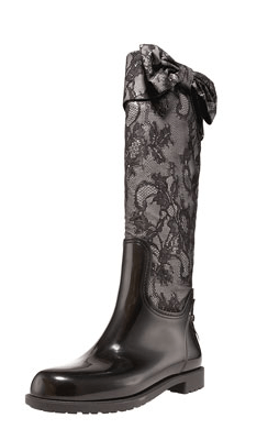 valentino bow rain boots