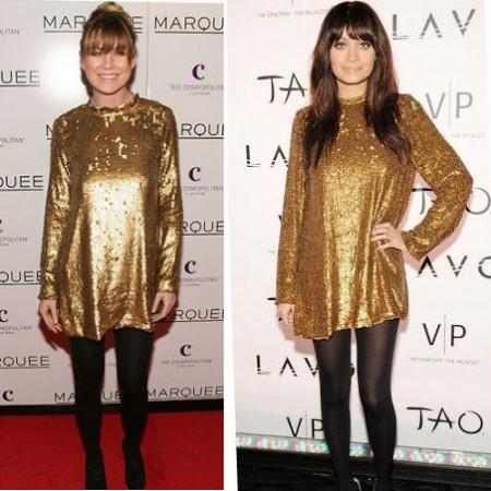 Abito dorato Winter Kate: Nicole Richie o Ellen Pompeo?