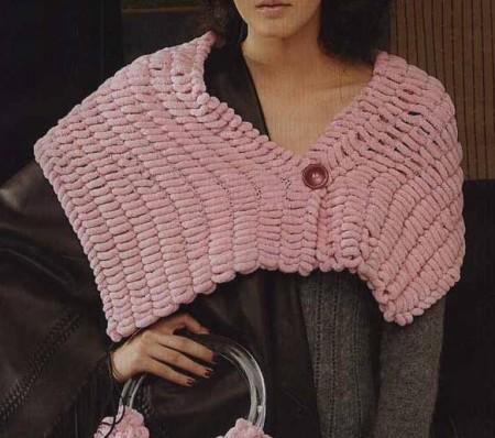 Lavori a maglia: crea una stola rosa confetto