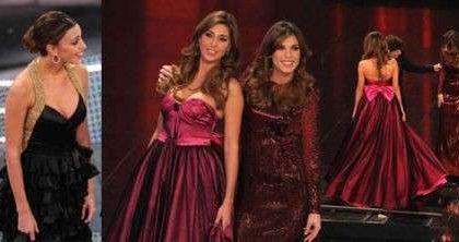 Belen a Sanremo: gli abiti Moschino della terza serata