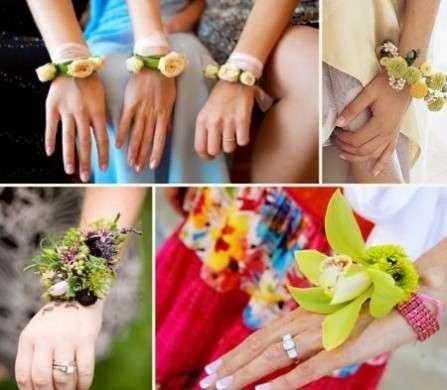 Accessori matrimonio: braccialetto di fiori