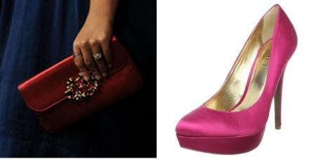 christian dior satin envelope clutch e scarpe