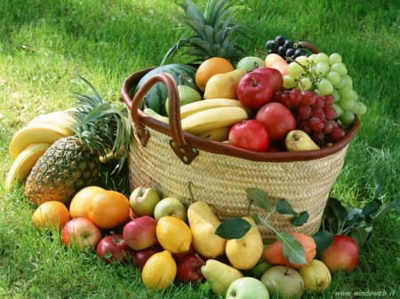 frutta e verdura otto porzioni