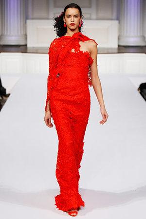 oscar de la renta pre fall 2011 abito rosso