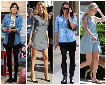 Camicia di jeans celebrities