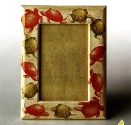 Decoupage: tante tartarughe per la tua cornice
