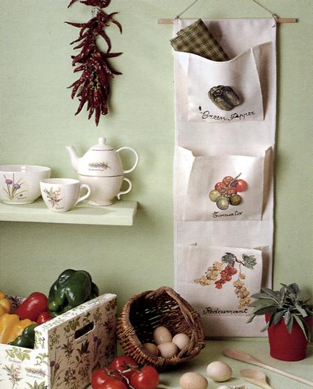 Come decorare un portaoggetti in stoffa a muro in modo originale