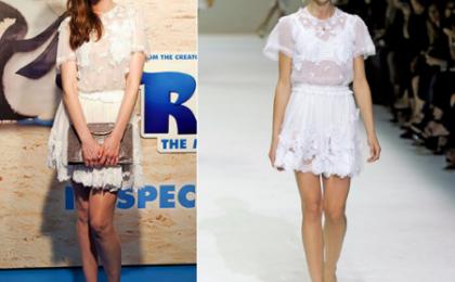 Anne Hathaway con vestito Dolce & Gabbana