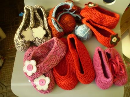babbucce in maglia