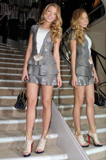Gossip Girl: Blake Lively indossa i sandali Salisburgo Louboutin
