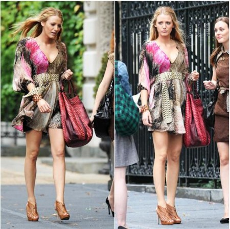 Gossip Girl: Blake Lively con i Pierre Hardy Laser-Cut Slingback Booties
