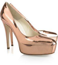 Scarpe Brian Atwood: le Maniac leather pump rosa