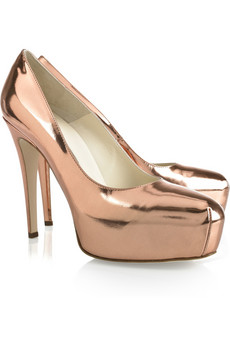 Scarpe Brian Atwood: le Maniac leather pump rosa