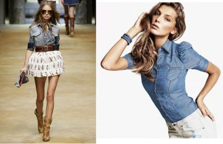camicia di jeans femminile