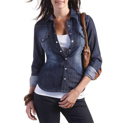 camicia di jeans sagomata