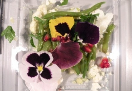 insalata primavera con viole del pensiero