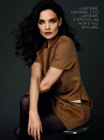 Katie Holmes in Max Mara per Vanity Fair Italia