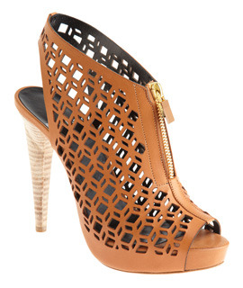pierre hardy laser cut slingback booties natural