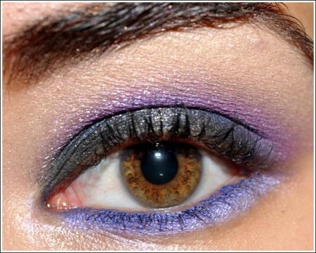 Trucco occhi: smokey eyes brillante in viola