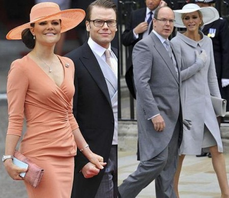 Matrimonio Will e Kate: Charlene Wittstock in Akris e Victoria di Svezia in Elie Saab
