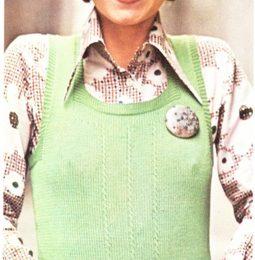 Lavori a maglia: creare un gilet verde