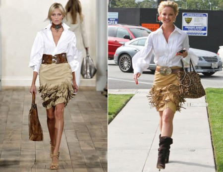 Katherine Heigl con un total look Ralph Lauren