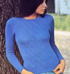 Lavori a Maglia  realizziamo questo bellissimo pullover azzurro 3e6e97d18588