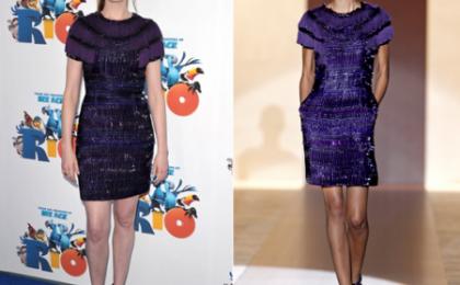 Anne Hathaway: look nerd firmato Gucci