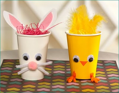 Lavoretti di Pasqua 2011: creiamo il bicchier-coniglio!