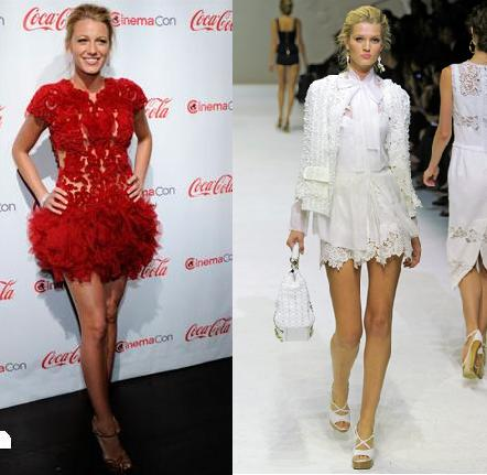 Blake Lively: Dolce & Gabbana e Marchesa