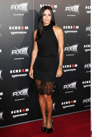 Courtney Cox sceglie le pumps Sergio Rossi per Scream 4