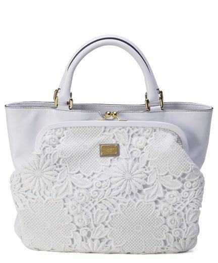 Dolce&Gabbana: la borsa con dettagli in pizzo super chic