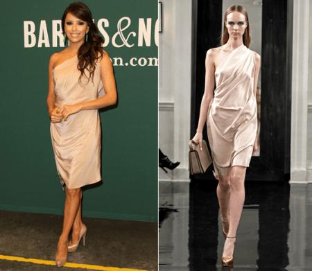 Eva Longoria, bellissima con un abito Victoria Beckham