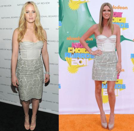 Abito Proenza Schouler: Nicky Hilton o Jennifer Lawrence?