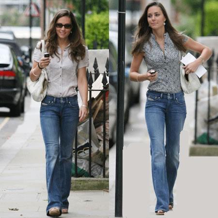 Kate Middleton con jeans Diesel