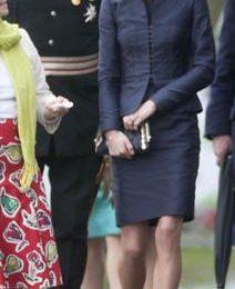 Kate Middleton con tailleur Vintage Amanda Wakeley