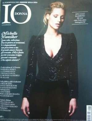 Michelle Hunziker su Io Donna copertina