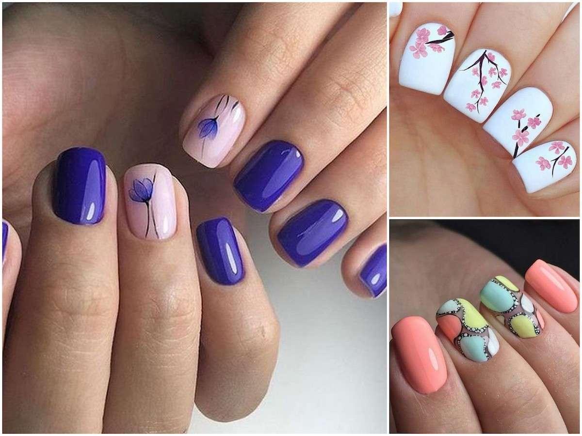 Unghie gel nail art divertenti per la primavera