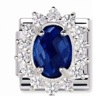 nomination gioielli anello blu