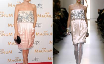 Chanel: Rachel Bilson con abito haute couture P/E 10