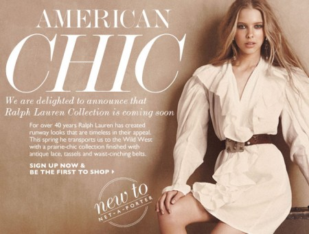 Ralph Lauren Collection sbarca su Netaporter.com